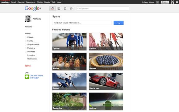 Google + Sparks