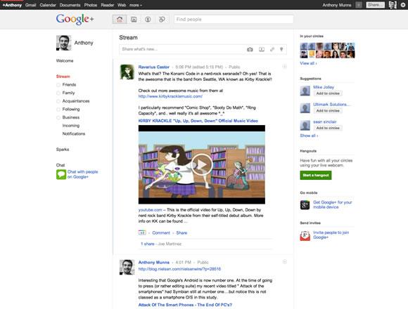 Google + Stream