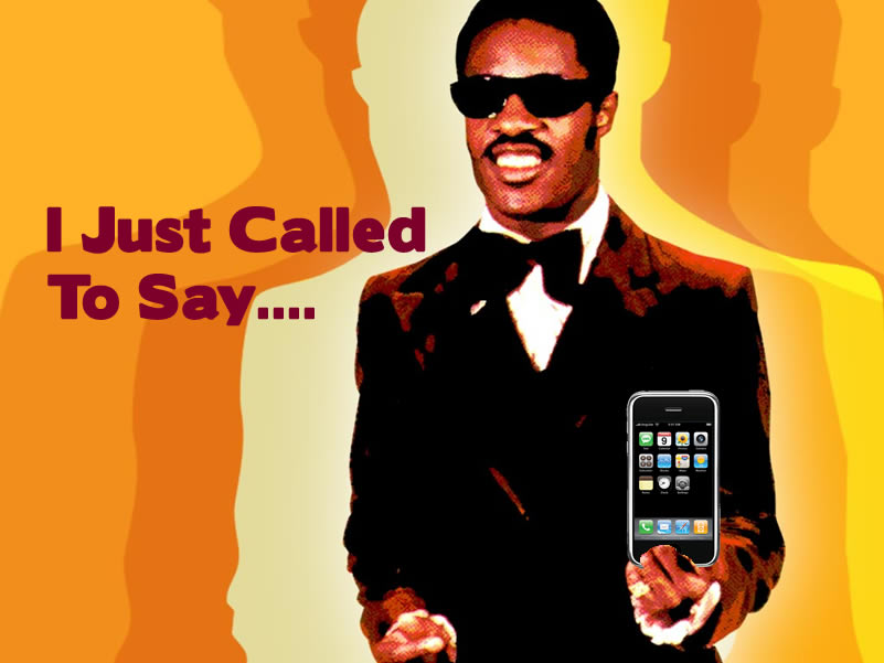 Stevie Wonder Loves Apple Products