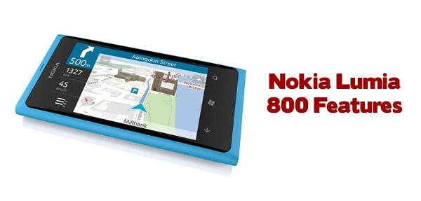 Nokia Lumia 800 Features