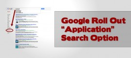 Google Roll Out Application Search option