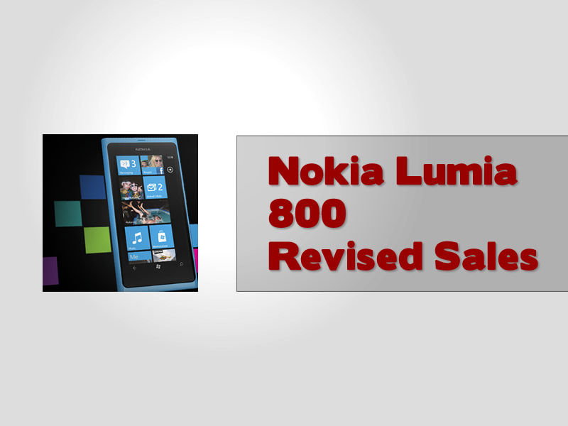 Nokia Lumia 800 Revised Sales