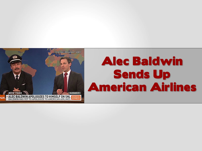 Alec Baldwin Sends Up American Airlines Apologises To Himself Dresses As Pilot