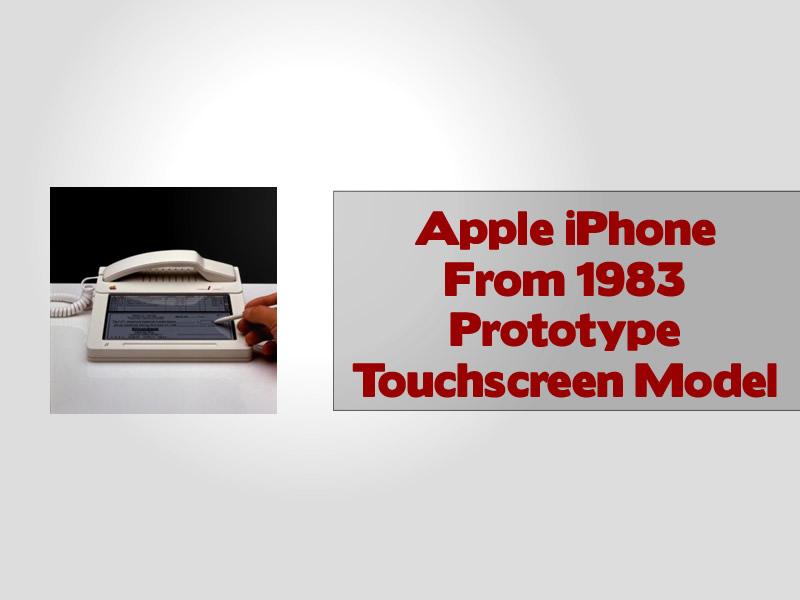 Apple iPhone From 1983 Prototype Touchscreen Model