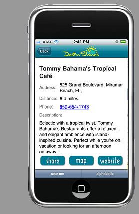 DestinShines.com restaurant-listing