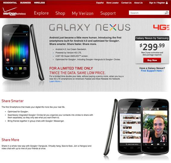 Galaxy Nexus US Now Available On Verizon