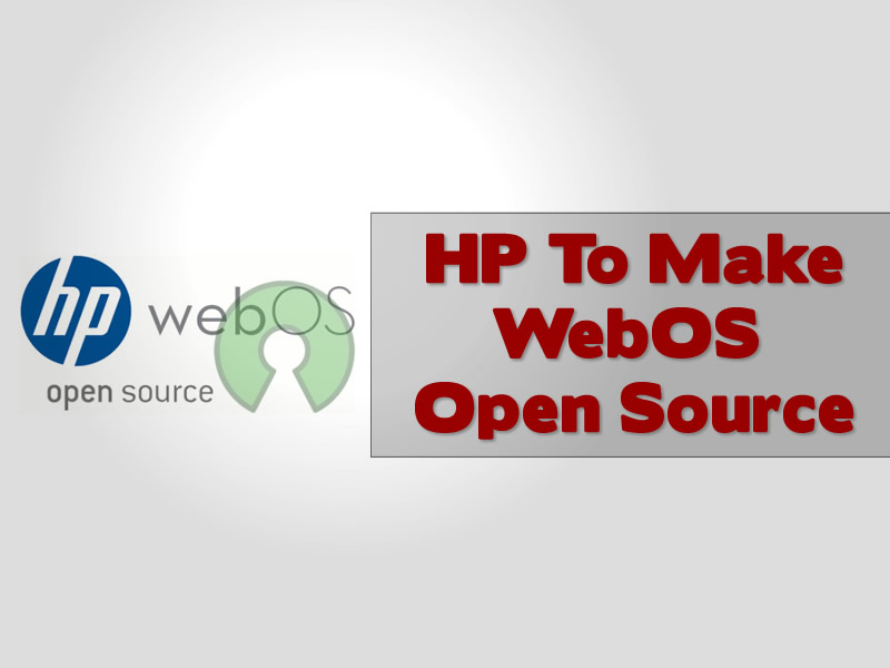 HP To Make WebOS Open Source