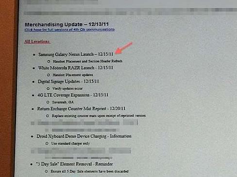 Samsung Galaxy Nexus US Release Date