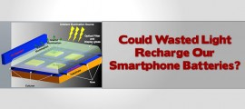 Could Wasted Light Recharge Our Smartphone Batteries