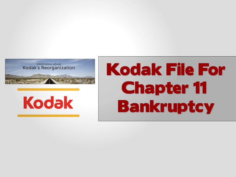 Kodak File For Chapter 11 Bankruptcy
