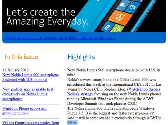 Nokia Lumia 900 March Release Date