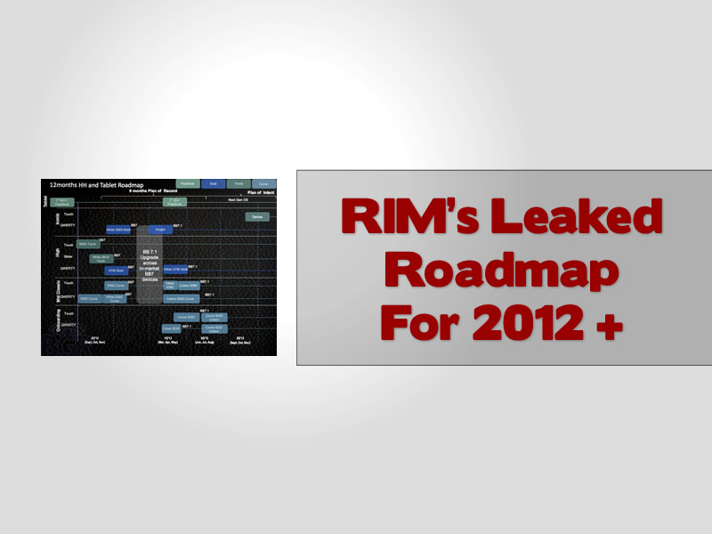 RIM's Leaked Roadmap For 2012