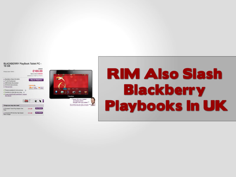 RIM Also Slash Blackberry Playbooks In UK