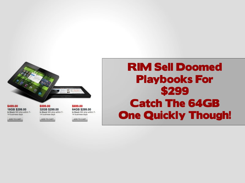 RIM Sell Doomed Playbooks For $299
