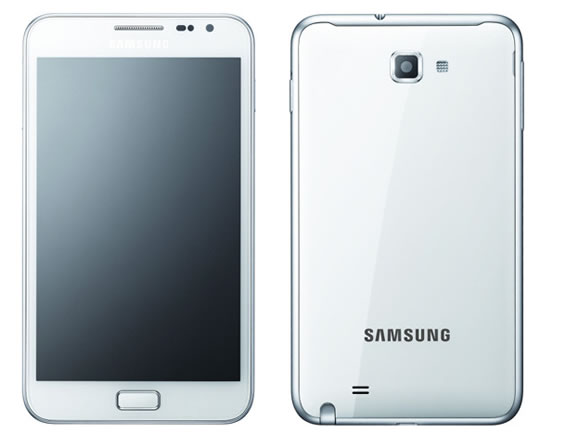 White Galaxy Note UK Release