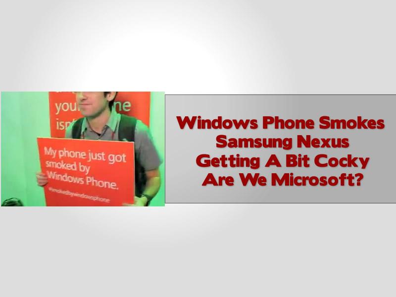 Windows Phone Smokes Samsung Nexus