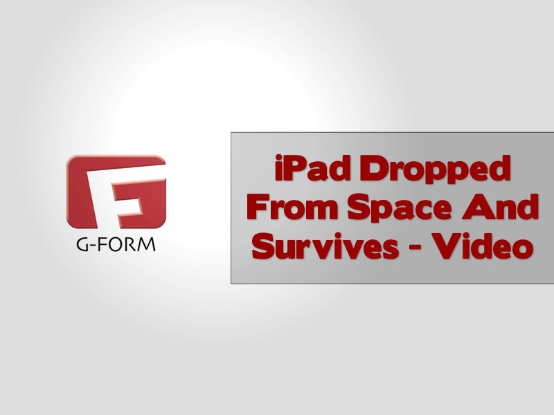 iPad Dropped From Space