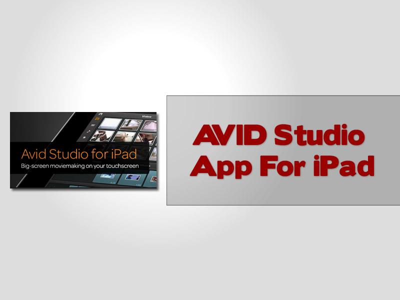 AVID Studio App For iPad