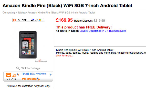 Kindle Fire UK Store